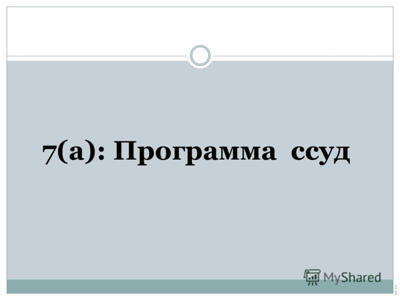 7(a): Программа ссуд 15