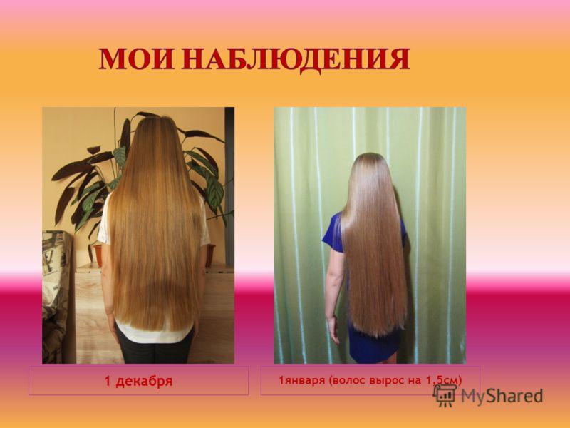 1 декабря 1января (волос вырос на 1,5см)