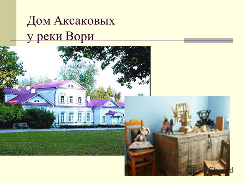 Дом Аксаковых у реки Вори