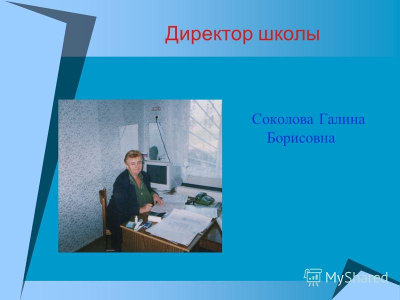 Директор школы Соколова Галина Борисовна
