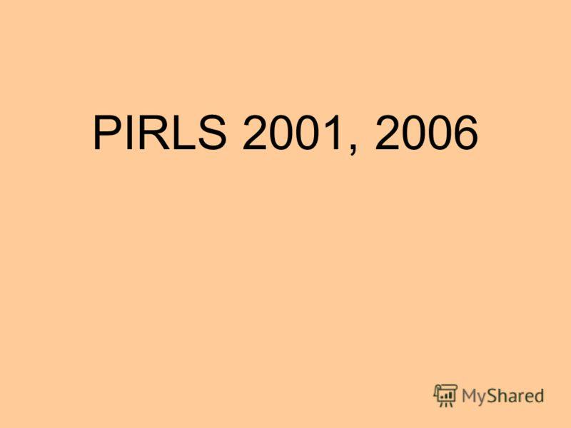 PIRLS 2001, 2006