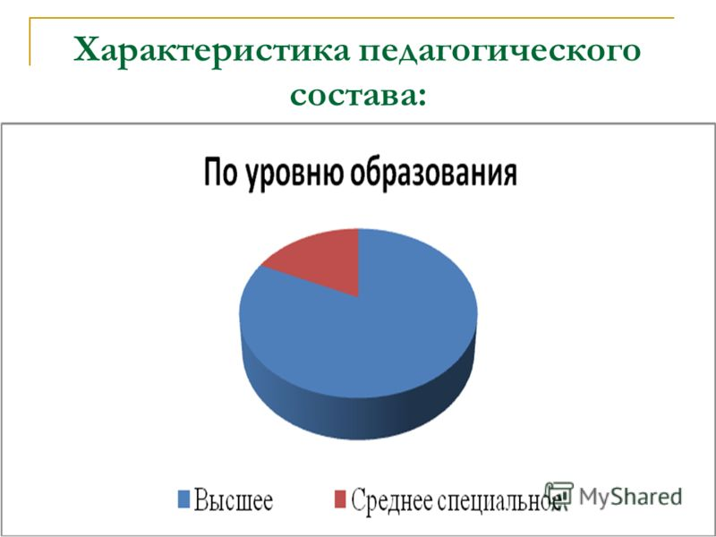 Характеристика педагогического состава: