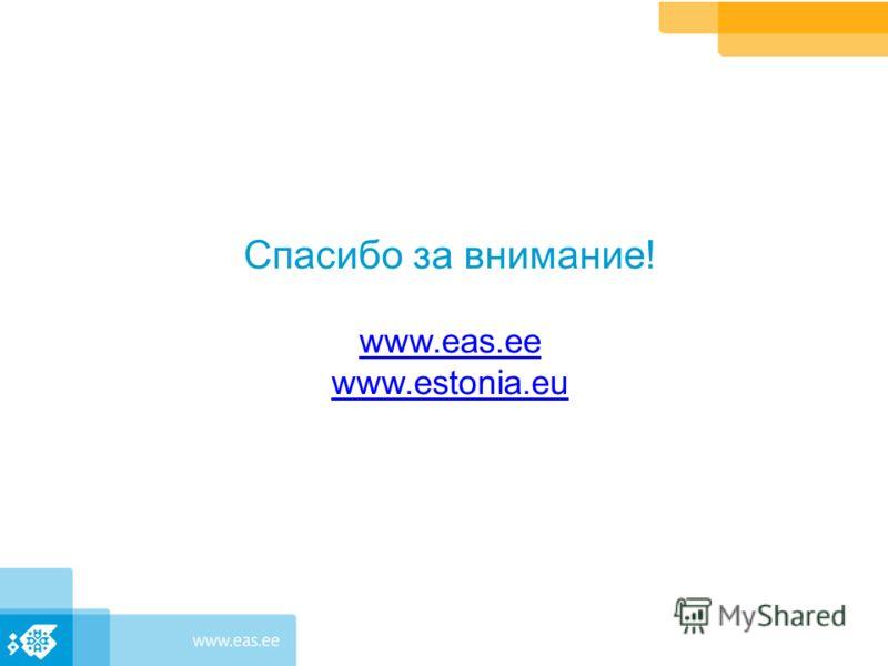 Спасибо за внимание! www.eas.ee www.estonia.eu