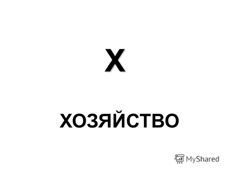 Х ХОЗЯЙСТВО