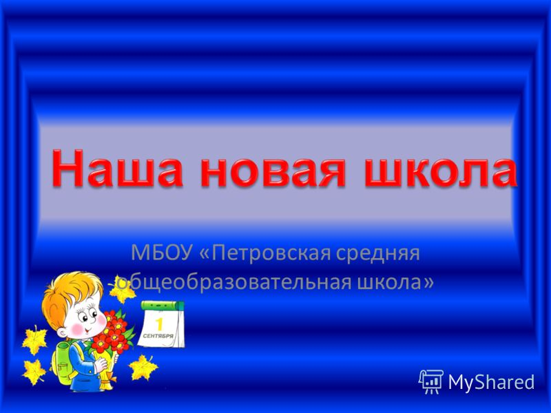 МБОУ «Петровская средняя общеобразовательная школа»