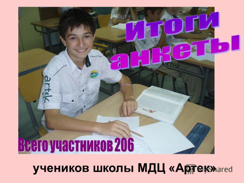 учеников школы МДЦ «Артек»
