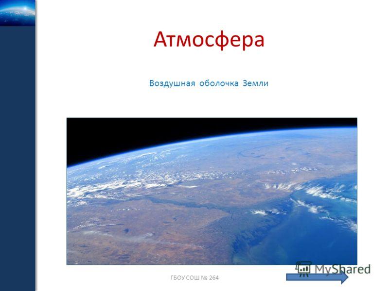 Атмосфера ГБОУ СОШ 264 Воздушная оболочка Земли