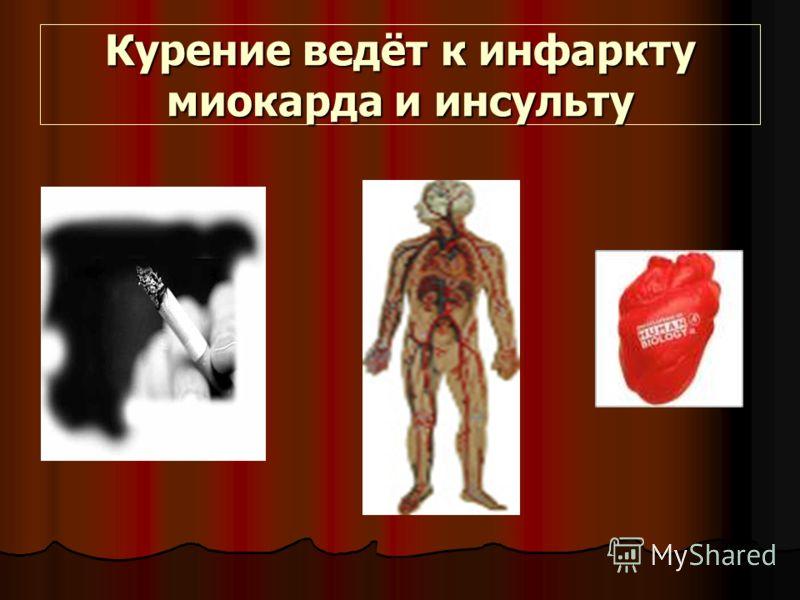 Курение ведёт к инфаркту миокарда и инсульту