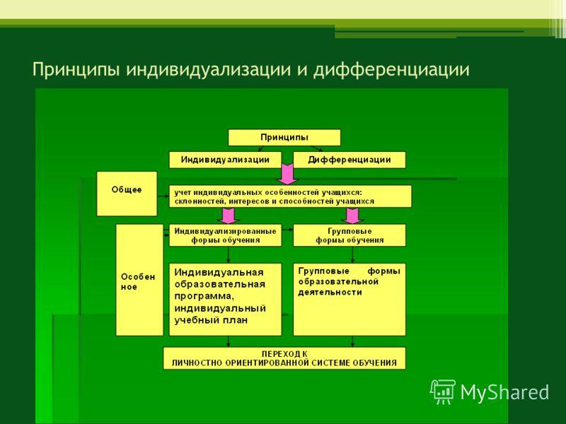 Принципы индивидуализации и дифференциации