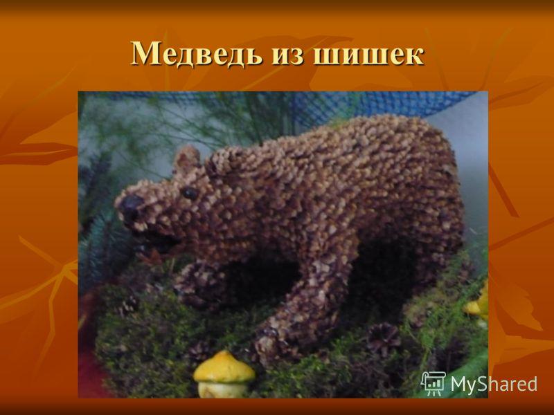 Медведь из шишек