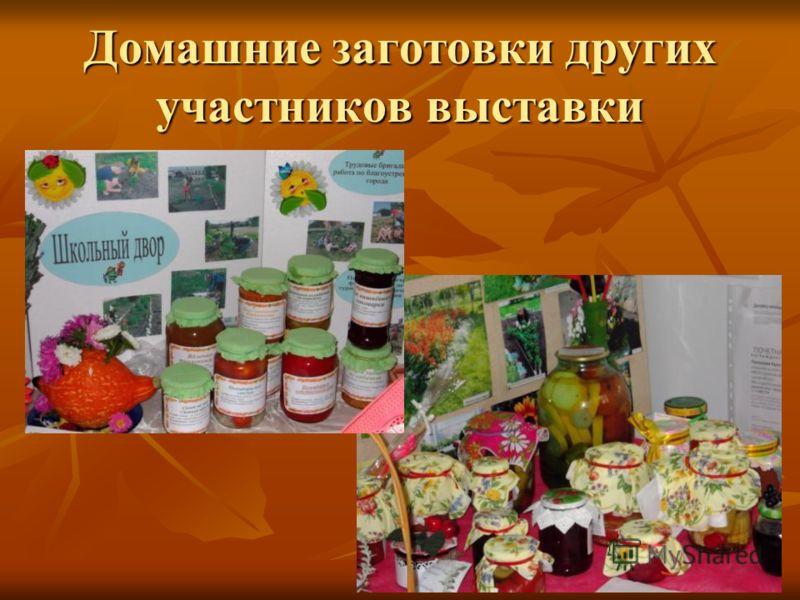 Домашние заготовки других участников выставки
