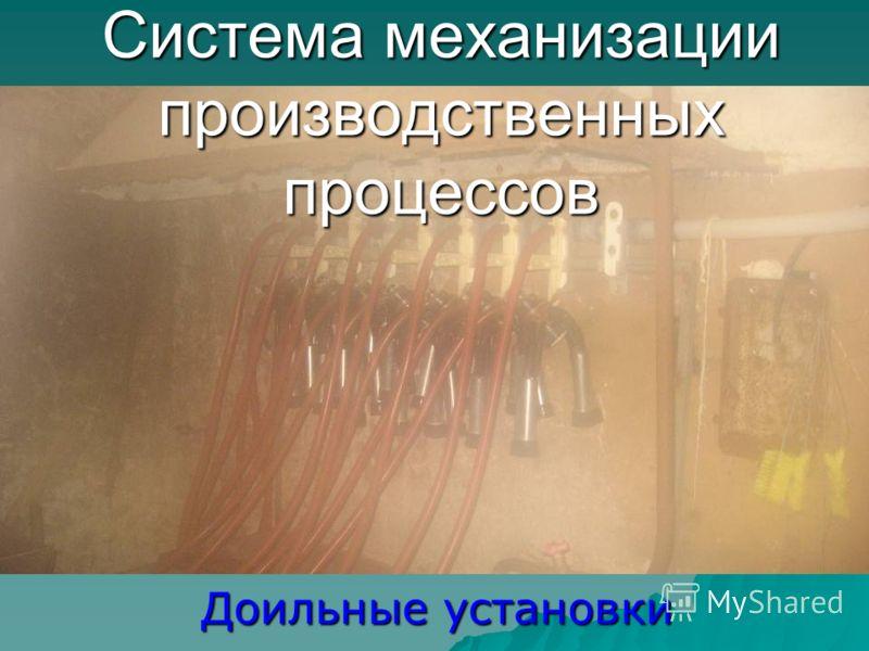 Система механизации производственных процессов Доильные установки