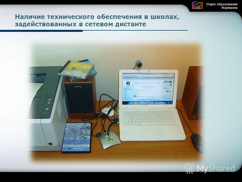 Наличие технического обеспечения в школах, задействованных в сетевом дистанте Отдел образования Фурманов