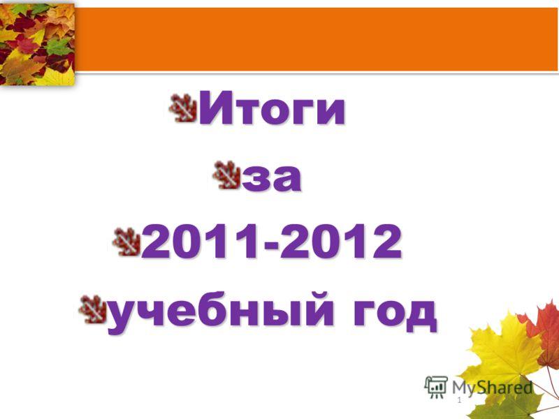 Итогиза2011-2012 учебный год 1