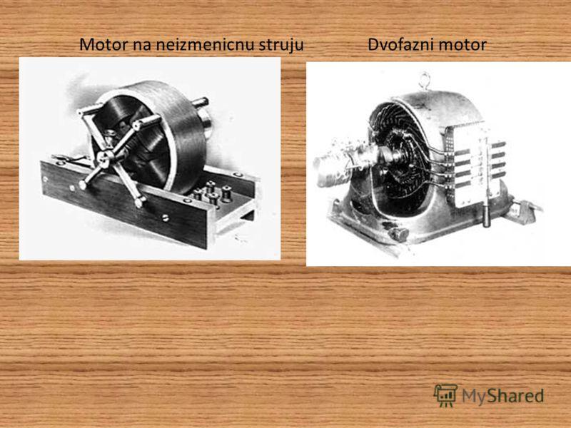 Brown,koji je investirao u Teslin motor neizmenicne struje. Tesla je brzo razvio sve komponente za sistem proizvodnje i prenosa naizmenične struje, koji se i danas univerzalno koristi.Bitka za svoj motor je bila zavrsena ali bitka za komercijalno pre