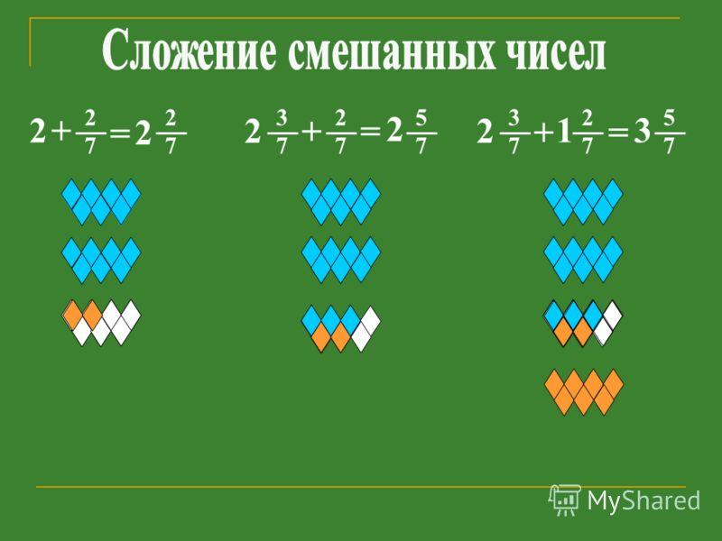 2 2 7 + = 2 2 7 2 7 += 2 5 7 2 3 7 2 7 += 3 5 7 2 3 7 1