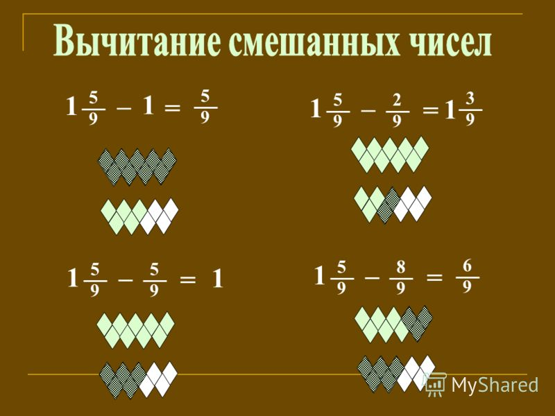1 5 9 – = 5 9 1 3 9 = 1 – 5 9 2 9 = 1 – 5 9 5 9 6 9 = 1 – 5 9 8 9 1 1