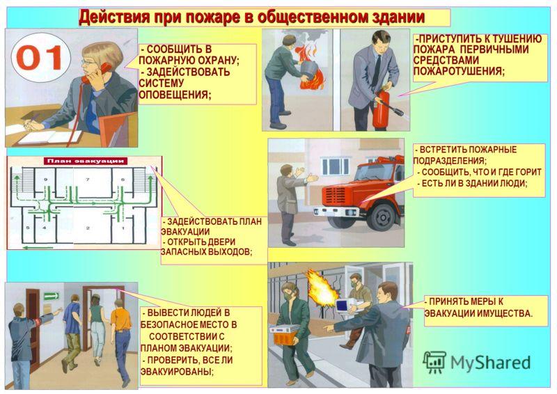 Инструкция действия при пожаре на производстве