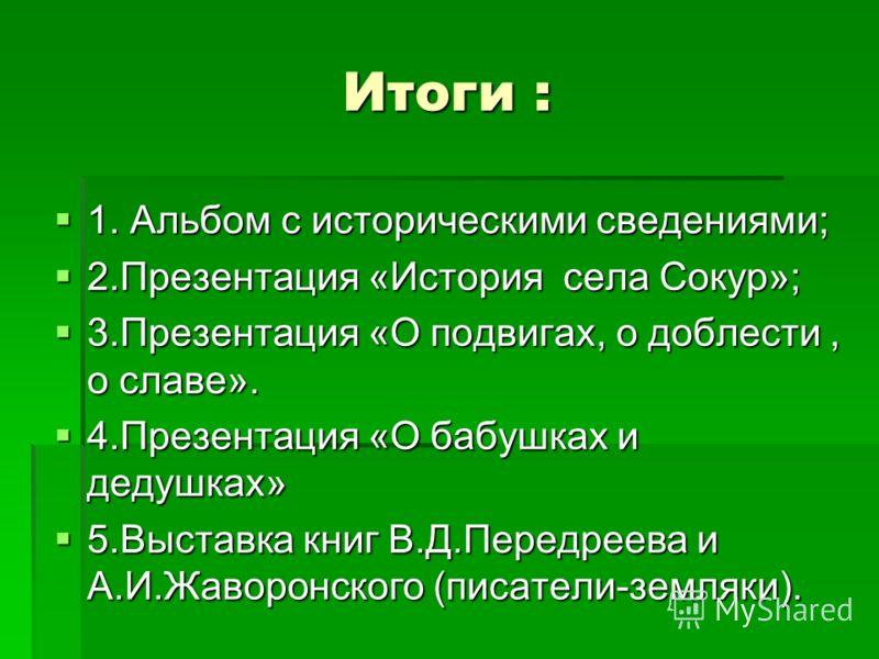 Презентация история села сокур 2