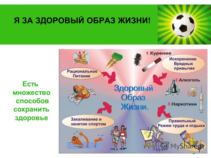 Powerpoint Templates Page 2 Я ЗА ЗДОРОВЫЙ ОБРАЗ ЖИЗНИ! Есть множество способов сохранить здоровье