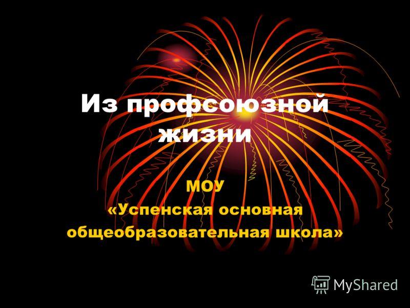 Из профсоюзной жизни МОУ «Успенская основная общеобразовательная школа»