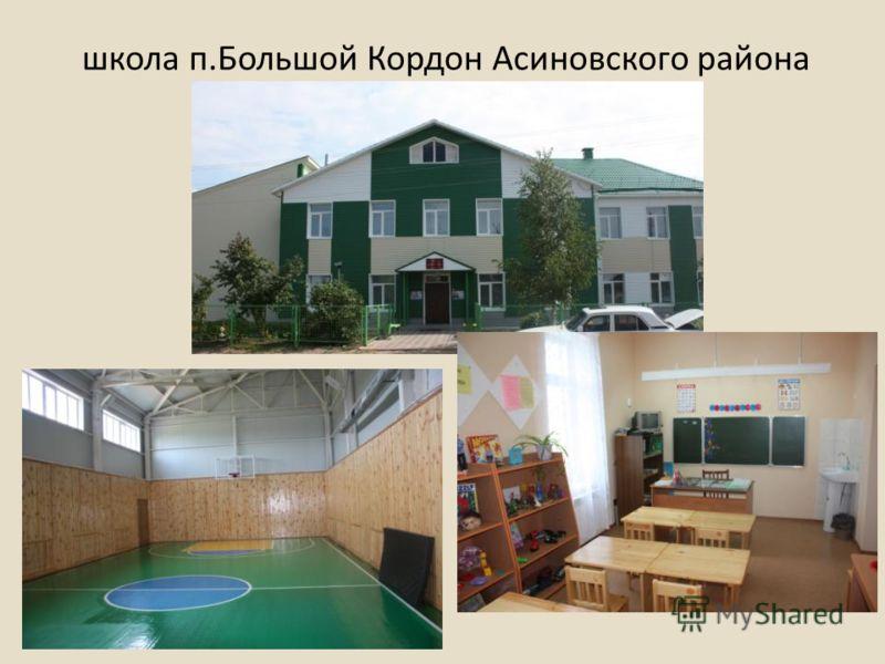школа п.Большой Кордон Асиновского района