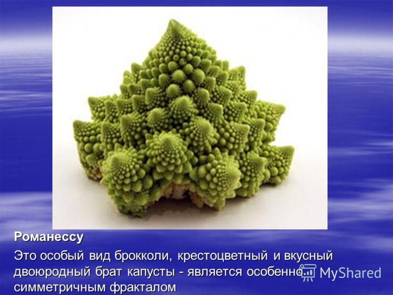Романессу Это особый вид брокколи, крестоцветный и вкусный двоюродный брат капусты - является особенно симметричным фракталом