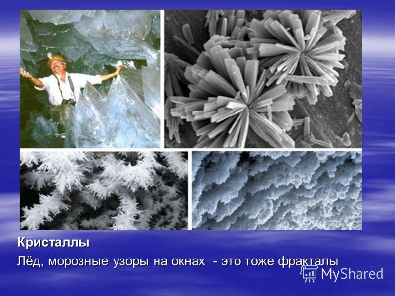 Кристаллы Лёд, морозные узоры на окнах - это тоже фракталы