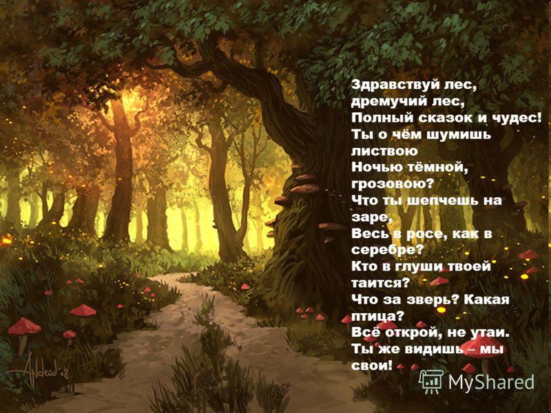Лес дремучий лес полный сказок и
