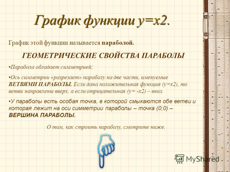 График функции y=x2. График этой функции ...: www.myshared.ru/slide/214709