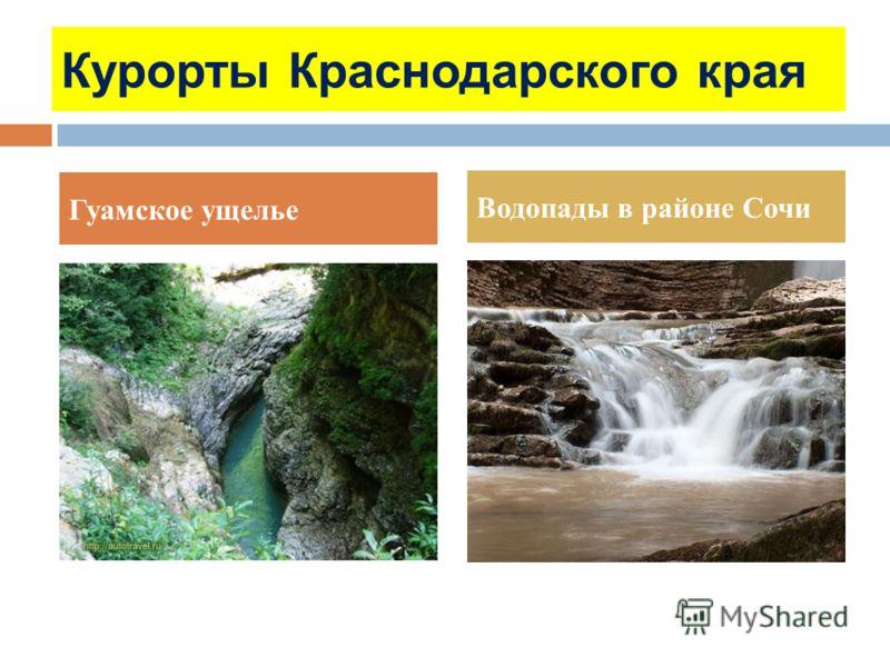 Курорты Краснодарского края Гуамское ущелье Водопады в районе Сочи