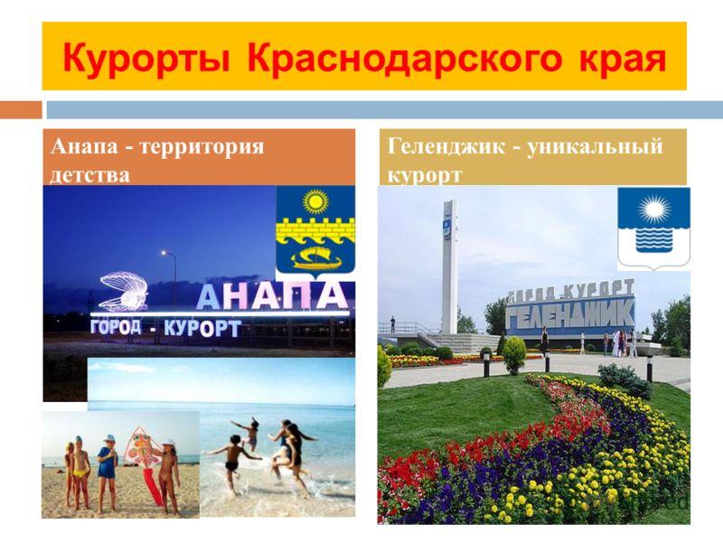 Курорты Краснодарского края Анапа - территория детства Геленджик - уникальный курорт