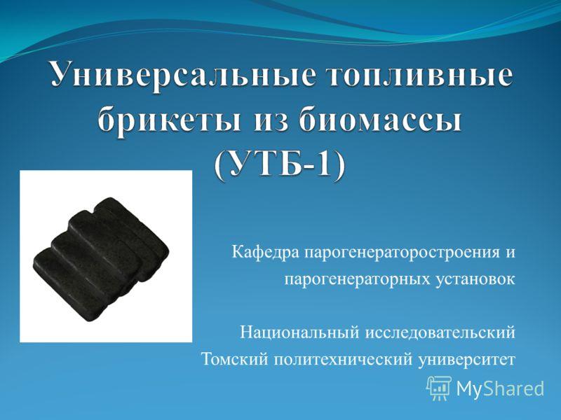Кафедра парогенераторостроения и парогенераторных установок Национальный исследовательский Томский политехнический университет