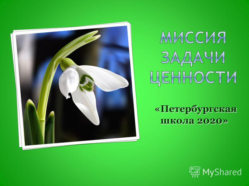 «Петербургская школа 2020» «Петербургская школа 2020»