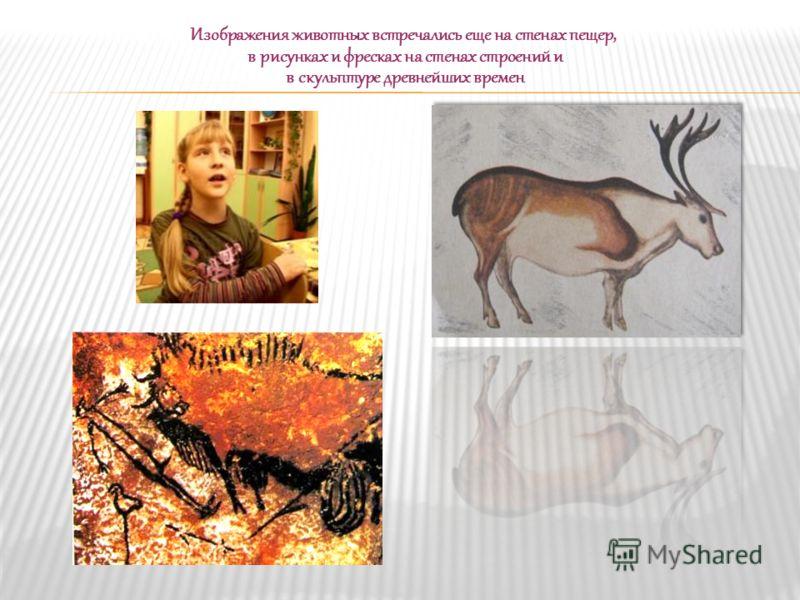 Изображения животных встречались еще на стенах пещер, в рисунках и фресках на стенах строений и в скульптуре древнейших времен