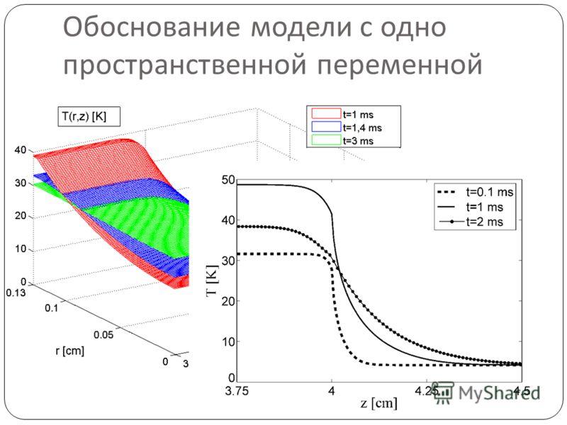 Обоснование модели с одно пространственной переменной