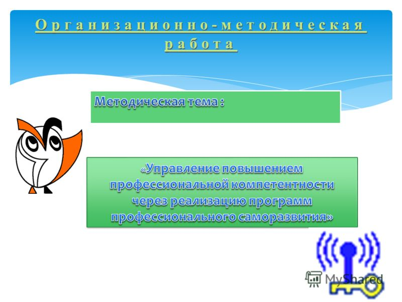 Организационно-методическая работа Организационно-методическая работа