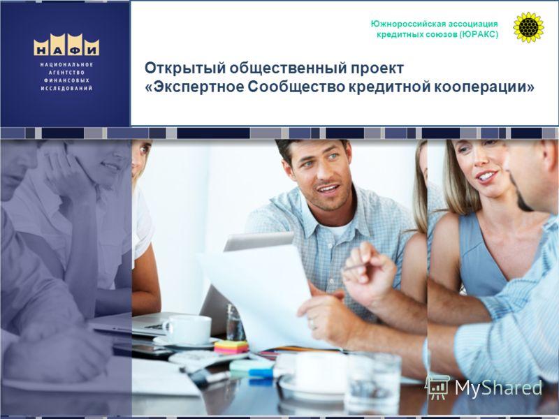 Открытый общественный проект «Экспертное Сообщество кредитной кооперации» Южнороссийская ассоциация кредитных союзов (ЮРАКС)