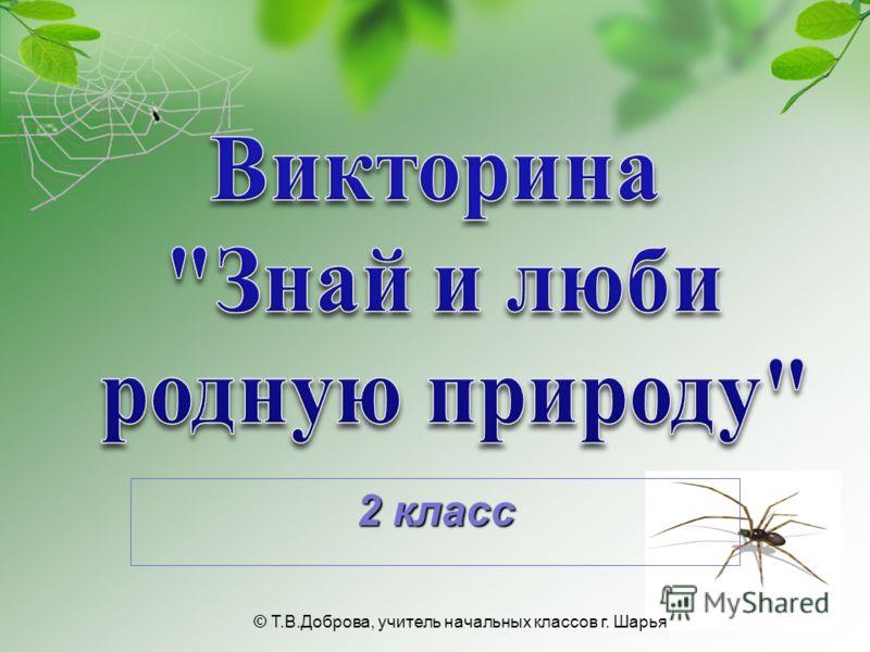 2 класс © Т.В.Доброва, учитель начальных классов г. Шарья