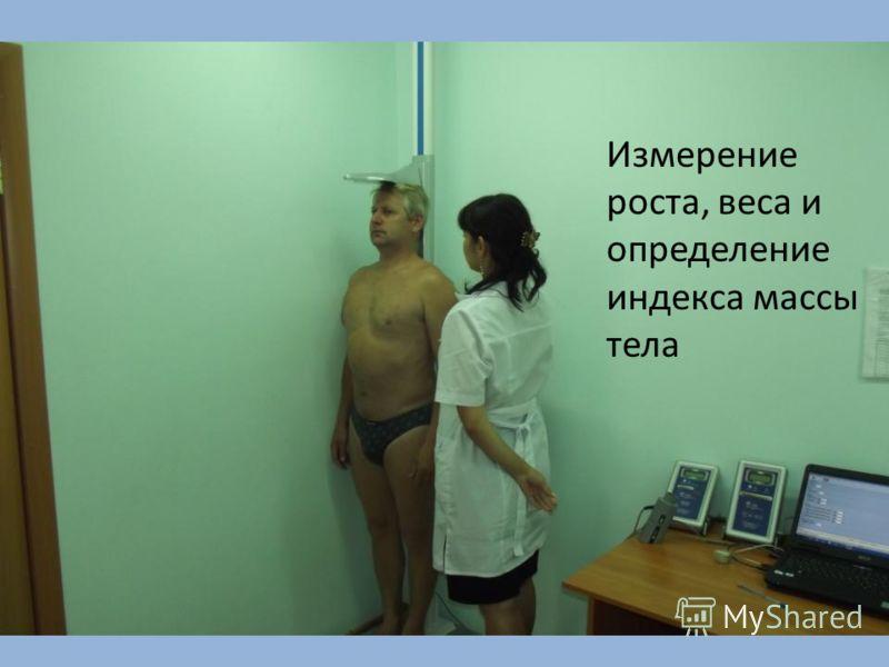 Измерение роста, веса и определение индекса массы тела