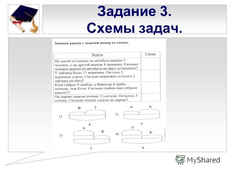 Задание 3. Схемы задач.