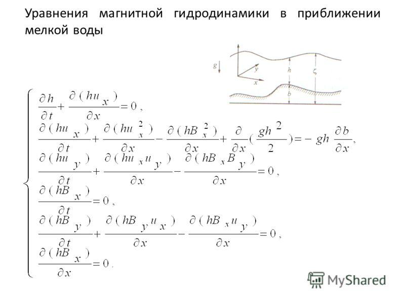 Уравнения магнитной гидродинамики в приближении мелкой воды