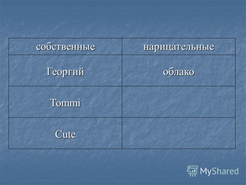 собственныенарицательные Георгийоблако Tommi Cute