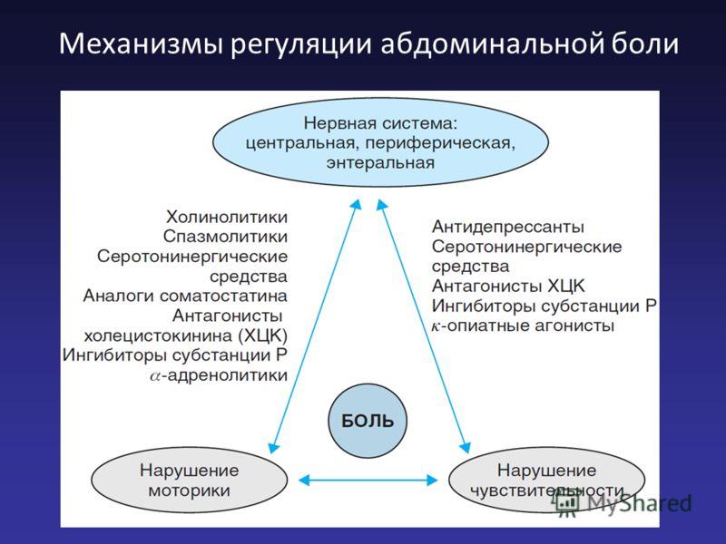 Механизмы регуляции абдоминальной боли