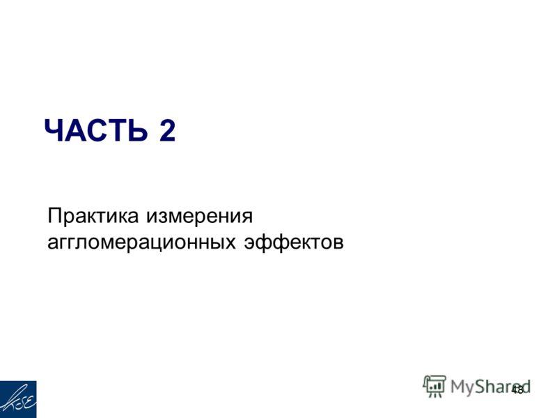 ЧАСТЬ 2 Практика измерения аггломерационных эффектов 48