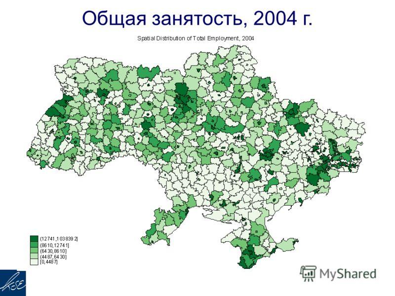Общая занятость, 2004 г.