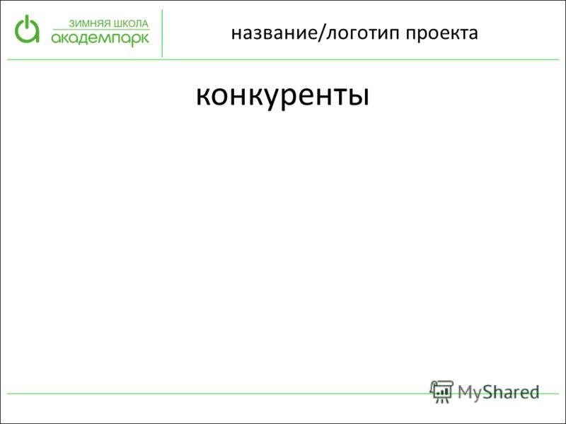 название/логотип проекта конкуренты