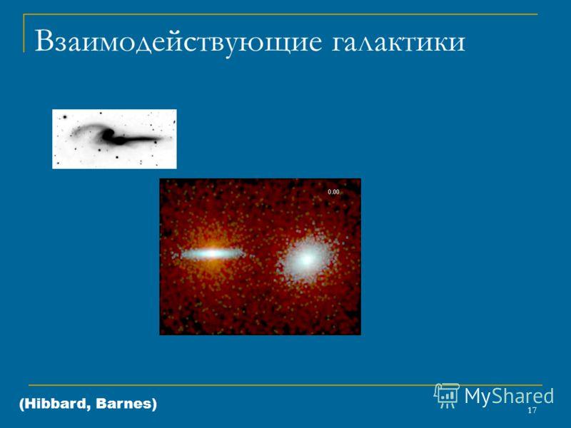 17 Взаимодействующие галактики (Hibbard, Barnes)