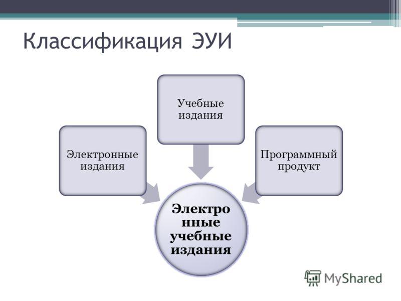 Классификация ЭУИ