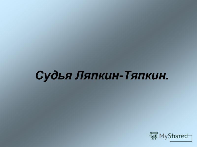 Судья Ляпкин-Тяпкин.
